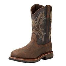 Ariat Men's Composite Toe Workhog Boots - Bruin Coffee