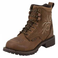 Justin Original Work Boots Women's Waterproof Steel Toe Katerina Work Boots - Aged Bark