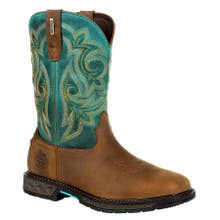 Georgia Women's Carbo-Tec Waterproof Pull On Boots - Medium Brown