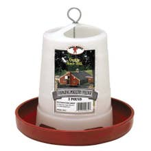 Little Giant Plastic Hanging Poultry Feeder - 3Lb